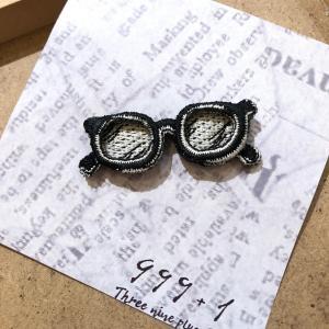 1415M1 ラカムワッペン 刺繍 メガネ1|999a