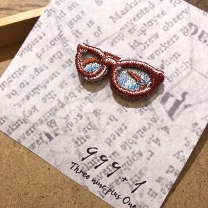 1415M3 ラカムワッペン 刺繍 メガネ3|999a