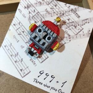 1417RO ラカムワッペン 刺繍 ロボット|999a