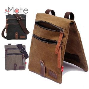 サコッシュ ショルダーバッグ バッグ メンズ 軽量 小型 カジュアル 帆布 カバン 斜め掛け レジャー キャンバス 鞄|99mate