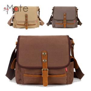 斜め掛けショルダーバッグ キャンバスバッグ メンズ 軽量 小型 カジュアル 帆布 カバン レジャー バッグ 鞄|99mate