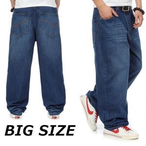バギーパンツ メンズ ジーンズ 大きいサイズ カーゴパンツ デニム BIGサイズ ジーパン デニムパンツ Gパン ゆったり セール|99mate