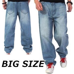 カーゴパンツ ジーンズ デニム 大きいサイズ BIGサイズ パンツ ジーパン ゆったり バギーパンツ メンズ|99mate