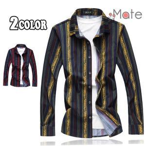 シャツ 開襟シャツ メンズ チェックシャツ カジュアルシャツ オシャレ 大きいサイズ 長袖 チェック トップス|99mate