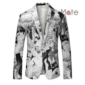 おしゃれ テーラードジャケット メンズ ジャケット ブレザー 柄物 テーラード カジュアルスーツ 卒業式 ファッション|99mate