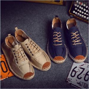 フラットシューズ 麻シューズ 麻靴 靴 紳士靴 バブーシュ エスパドリーユ スリッポン カジュアルシューズ ジュート風 夏物|99mate