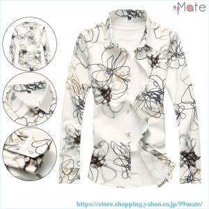 アロハシャツ メンズ 長袖 シャツ 開襟シャツ カジュアルシャツ ワイシャツ 花柄シャツ トップス 和柄 お兄系 40代 50代|99mate