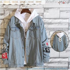 デニムジャケット メンズ ジージャン ジャケット Gジャン カットデニム ブルゾン アウター トップス アメカジ 通学|99mate