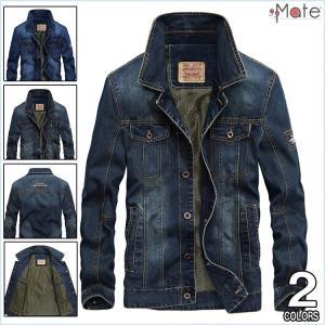 Gジャン メンズ デニム ジャケット デニムジャケット アウター ウォッシュ加工 ブルゾン ジャンパー ユーズド 大きいサイズ|99mate