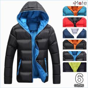 中綿ジャケット メンズ 中綿コート フード付き ダウンコート キルティングジャケット 軽量 キルティングコート アウター 無地 送料無料 99mate
