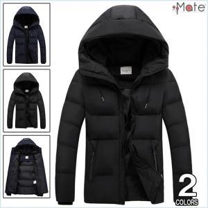 中綿コート メンズ 中綿ジャケット フード付き キルティングジャケット 軽量 キルティングコート ダウンコート 無地 アウター 99mate