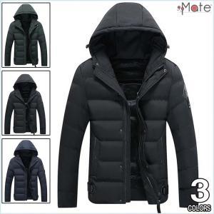 キルティングコート メンズ ダウンジャケット 軽量 中綿コート 無地 キルティングジャケット フード付き ダウンコート アウター|99mate