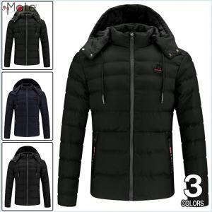 キルティングジャケット メンズ ダウンコート 中綿コート フード付き 中綿ジャケット ダウンジャケット 防寒着 軽量 アウター|99mate