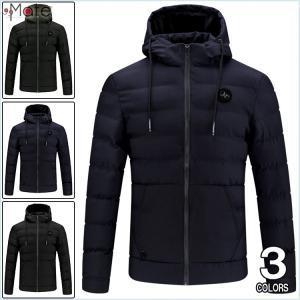 キルティングジャケット メンズ 中綿コート フード付き ダウンコート ダウンジャケット 防寒着 中綿ジャケット アウター 軽量 99mate