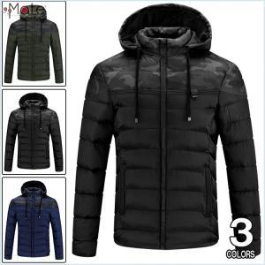 キルティングジャケット メンズ 中綿コート フード付き ミリタリージャケット ダウンコート ダウンジャケット 中綿ジャケット 99mate