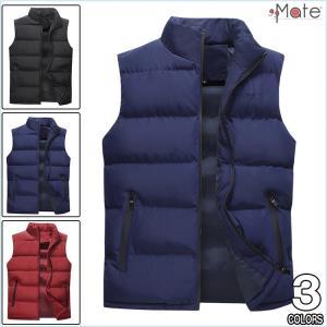中綿ベスト 無地 メンズ ダウンベスト 立ち襟 キルティングベスト 軽暖 ライトダウンベスト ジャケット 暖かい アウター コート セール 99mate