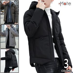 中綿ジャケット メンズ 暖かい ショート丈 羽織り 中綿コート アウター 防風防寒 フード付き オシャレ 冬用 秋冬|99mate