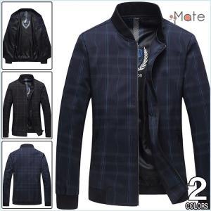 チェック柄 ジャケット メンズ スタジャン ブルゾン メンズジャケット はおり ジャンパー 春のジャケット アウター|99mate