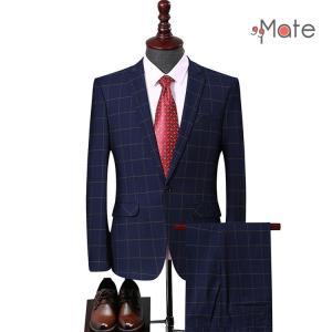 2ピーススーツ メンズ セットアップ スーツ 上下セット スーツジャケット 一つボタン 新生活 結婚式 卒業式 オシャレ|99mate