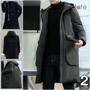 ダウンコート メンズ 秋冬新作 ダウンジャケット 紳士服 かっこいい メンズジャケット 40代 50代 コート フード付き ダウン|99mate