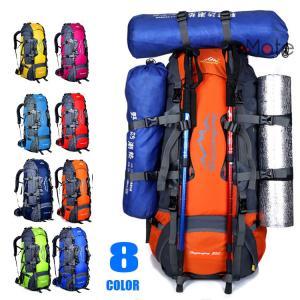 大容量 リュックサック ザック 登山バックパック アウトドア 登山リュック ハイキングバッグ 80L 登山 旅行 防水|99mate