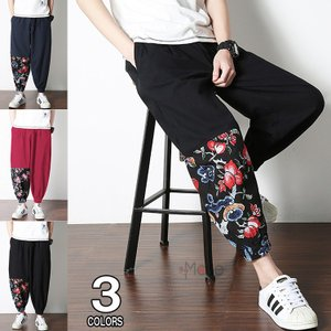 サルエルパンツ メンズ リネンパンツ ズボン 涼しいズボン イージーパンツ ゆったり ボトムス チャイナ風 おしゃれ 秋服 春服|99mate