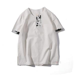 無地Tシャツ ティーシャツ メンズ Tシャツ 半袖 クルーネック 涼しい 半袖Tシャツ 部屋着 おしゃれ 綿麻 トップス 夏新作 99mate