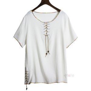リネンTシャツ Tシャツ メンズ 半袖 綿麻 ティーシャツ スリム カジュアル おしゃれ 半袖Tシャツ トップス 春 夏物 99mate