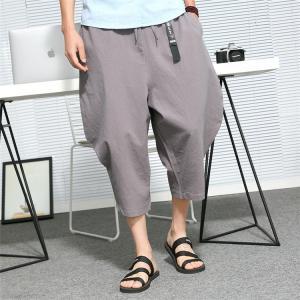涼しいパンツ ガウチョ メンズ カジュアル パンツ チノパン バギーパンツ サルエルパンツ ワイドパンツ ゆったり 夏物 お兄系|99mate
