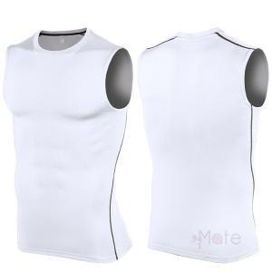 ノースリーブ Tシャツ メンズ コンプレッションウェア インナー 加圧シャツ スポーツウェア トレーニングウェ アンダー 夏新作 99mate