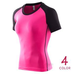 フィットネス Tシャツ レディース 半袖 コンプレッションウェア ジム ウェア 加圧インナー ヨガウェア アンダー 春夏秋|99mate