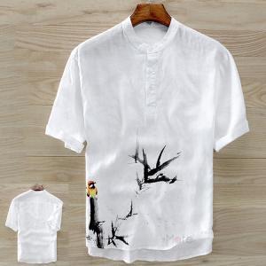 ティーシャツ メンズ 綿麻 リネンTシャツ Tシャツ 半袖 トップス カジュアル リネン ルームウェア おしゃれ 夏 99mate
