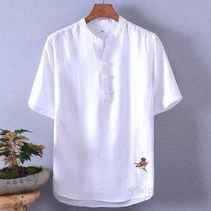 サマーTシャツ メンズ 半袖 ティーシャツ カジュアル ルームウェア 半袖Tシャツ 麻Tシャツ トップス 2019夏 99mate