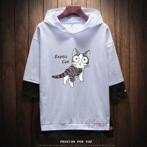 フード付き Tシャツ メンズ 半袖パーカー カジュアル ルームウェア 半袖 パーカー スポーツ 夏物 おしゃれ|99mate