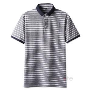 半袖 ゴルフウェア メンズ Tシャツ POLO 半袖ポロシャツ ポロシャツ ボーダー柄 トップス 40代 50代 おしゃれ 夏|99mate