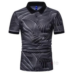 ポロシャツ メンズ トップス おしゃれ 半袖 Tシャツ 柄物 POLOシャツ ゴルフウェア 40代 50代 夏新作|99mate