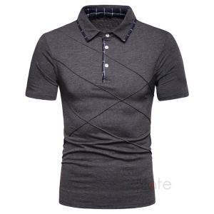 ポロシャツ メンズ カットソー Tシャツ 無地 半袖ポロ POLO ゴルフウェア トップス 通勤 スリム 2019夏 新作|99mate