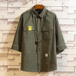 ワークシャツ 半袖シャツ メンズ 五分袖シャツ カジュアルシャツ ミリタリーシャツ アウトドア 夏 新作|99mate