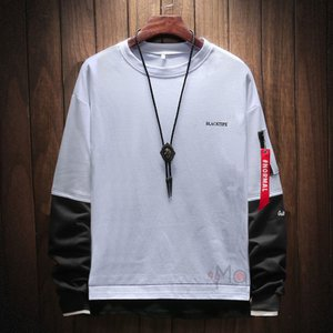 トレーナー 長袖 メンズ Tシャツ ルームウェア フェイクレイヤード トップス クルーネック スウェット 秋服 新作|99mate
