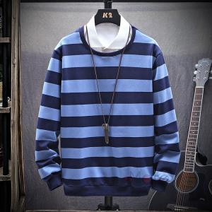トレーナー メンズ 長袖 プルオーバー スウェット ボーダー Tシャツ ルームウェア カジュアル お兄系 秋服|99mate