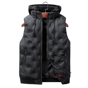中綿ベスト メンズ 軽量 カジュアル トップス アウター ダウンベスト ジャケット フード付き 秋冬|99mate