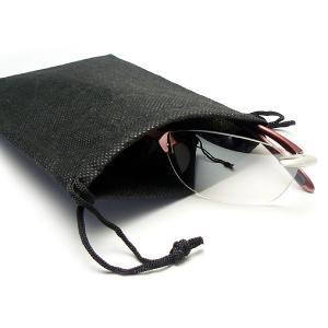 【激安・特価!しかもメール便なら送料無料】ソフトサングラスケース NGK-2607 ブラック 5枚セット (NG-2607-01)|a-achi