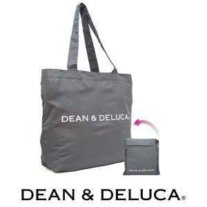 【メール便可】 DEAN&DELUCA ディーン&デルーカ フォーエバー ショッピングバッグ エコバック グレー ポケッタブル仕様 990067|a-base