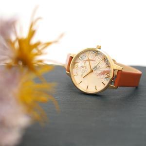 OLIVIA BURTON オリビアバートン 腕時計 アブストラクトフローラル ハニータン&ゴールド  オリビアバートン レディース 時計 OB16VM39 a-base