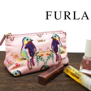 FURLA フルラ コスメティックケース ER63 K61 BLOOM ピンク系マルチカラー 化粧ポーチ フルラ ポーチ 969305|a-base