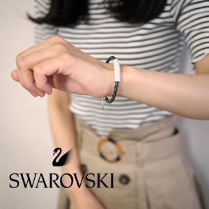 SWAROVSKI スワロフスキー ストーン ブレスレット グレー Mサイズ 5083363 スワロフスキー ブレスレット|a-base