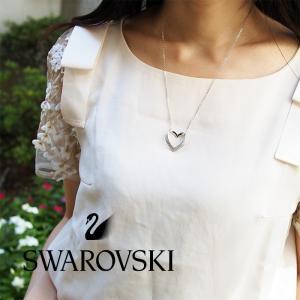 SWAROVSKI スワロフスキー CUPIDON ネックレス&ピアスセット シルバー×クリア 5136278|a-base