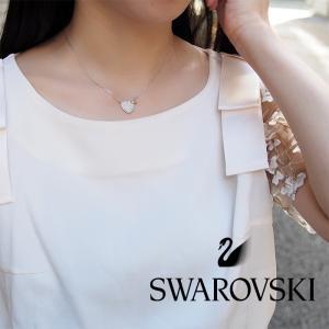 SWAROVSKI スワロフスキー ダブルハート ネックレス&ピアスセット 5228755|a-base