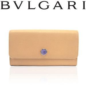 BVLGARI ブルガリ 35667 二つ折り 長財布 アーモンドベージュ|a-base