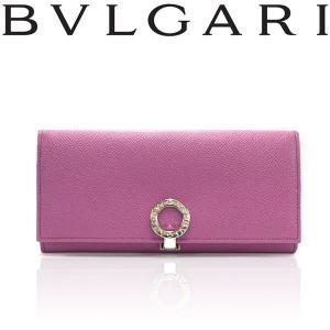 BVLGARI ブルガリ 35805 二つ折り 長財布 ラズベリーピンク|a-base